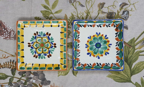 Flower Bread Square Plate / Tapa Plate 5*5