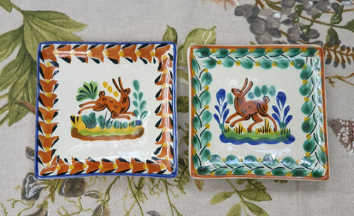 Rabbit Bread Square Plate / Tapa Plate 5*5