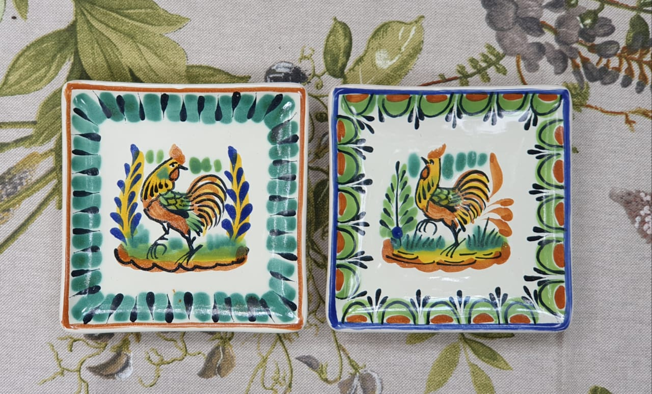 Rooster Bread Square Plate / Tapa Plate 5*5