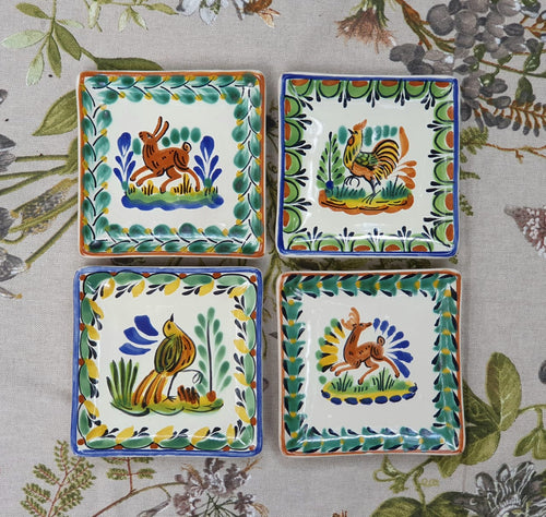Animals Bread Square Plate / Tapa Plate 5*5