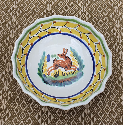 Rabbit Cereal/Soup Bowl 16.9 Oz Multicolor