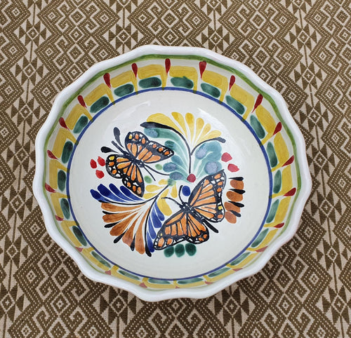 Butterfly Cereal/Soup Bowl 16.9 Oz Multicolor
