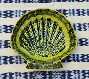 "Shell Dish Plate 4.7*5"" Green Contemporary"