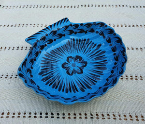"Shell Dish Plate 4.7*5"" Blue Contemporary"