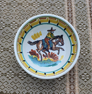 Cowboy Cereal/Soup Bowl 16.9 Oz MultiColors