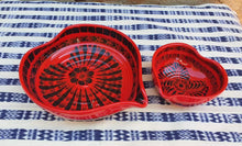 Heart Bowl Set (2 pieces) Red Contemporary