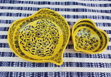 Heart Bowl Set (2 pieces) Yellow Contemporary