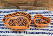 Heart Bowl Set (2 pieces) Orange Contemporary