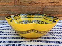 "Flower Salad Bowl 10"" D Yellow Contemporary"
