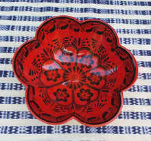 "Flower Salad Bowl 10"" D Red Contemporary"