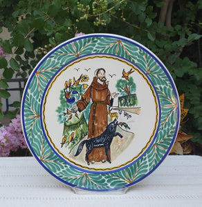 "Saint Francis Decorative Platter 13.8"" D MultiColors"