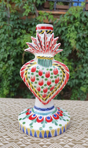 "Sacred Heart Candle holder 7.7"" H MultiColors"