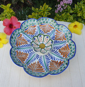 Flower Tortilla Chip Snack Bowl / Nachos Platter MultiColors