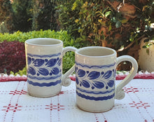 Espresso Mug 3.7 Oz Set of 2 Blue and White
