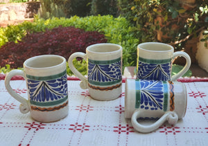 Espresso Mug 3.7 Oz Set of 4 Blue