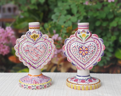 Love Heart Candle holder 7.7