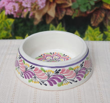 Flower Dog Bowl Purple Colors