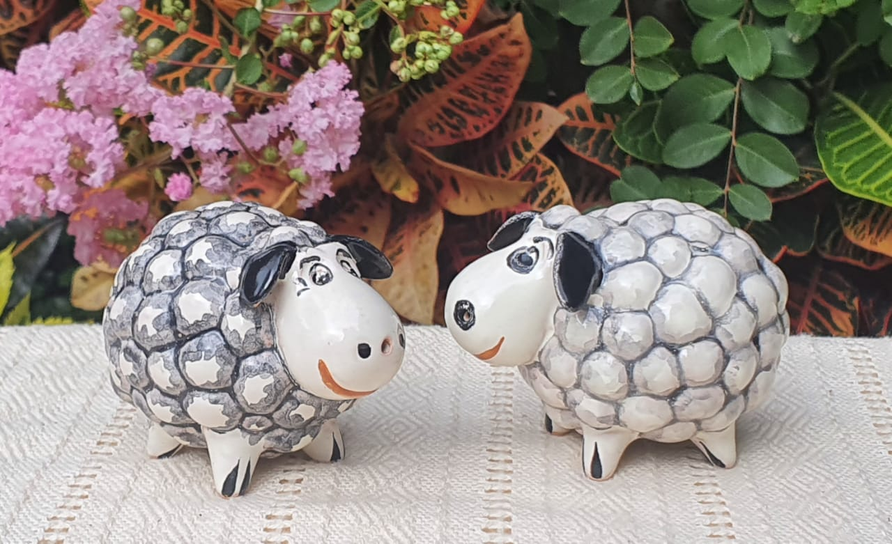 Sheep Salt and Pepper Shaker Set MultiColors