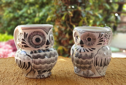Owl Coffee Mug Perfect couple! 10.5 Oz Black and White