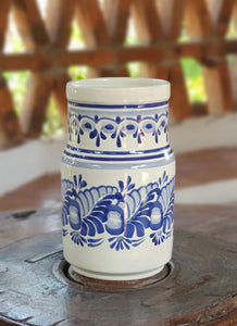 Decorative Flower Vase Height Blue and White