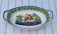 Deer Oval Bowl with handles / Serving Piece MultiColors
