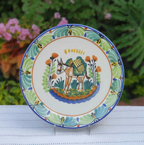 "Donkey Charger Dinner Plate 12"" D Multicolor"