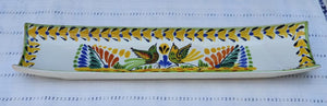 Love Birds Canoe Snack Dish 17.7 in L MultiColors