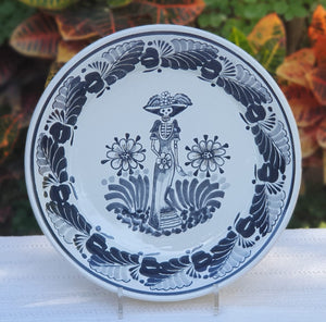 Catrina Decorative Deep Round Platters Black and White