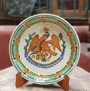 Decorative  Mexican Eagle Deep Round Platters Multi-colors