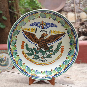 Decorative Mexican Eagle Platters Multi-colors