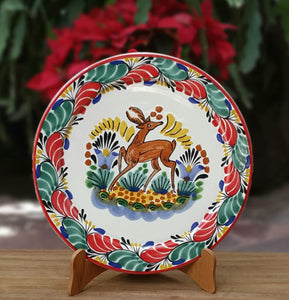 Deer Christmas Plates Multi-colors