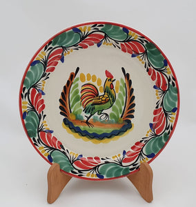 "Rooster III Charger Dinner Plate 12"" D Red-Green Colors"
