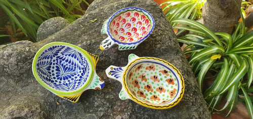 Turtle Saucer dish Set of 3 pieces in colors
