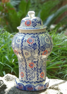 Decorative Vase Olan Blue and White