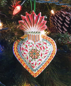 Ornament Sacred Heart Flower Multi-colors