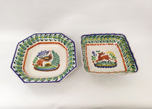 Animal Set Salad Bowl of two MultiColors - Mexican Pottery by Gorky Gonzalez