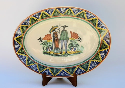 Wedding Catrina Large Oval Platter in Colors