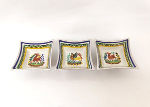 Animal Square Footed Saucer SET(3)