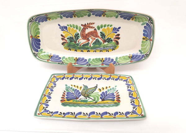 Rectangular Platter Small & Medium Rectangular Plate SET of 2 in Colors