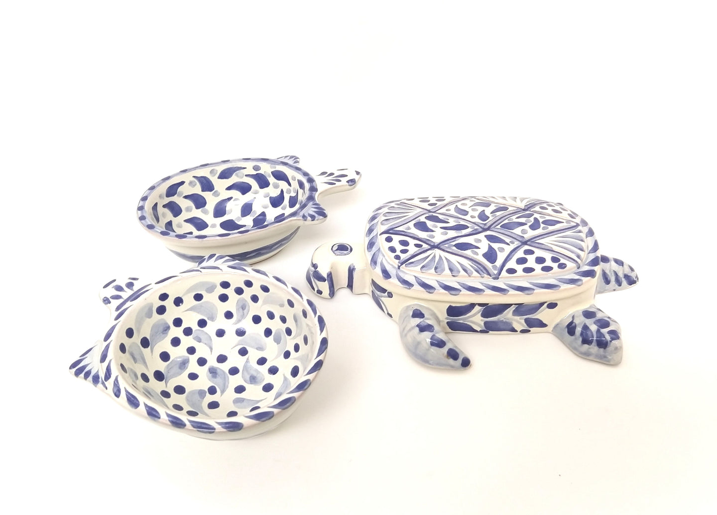 Turtle Set (3 PIECES) Blue and White