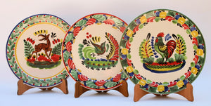 "Animal Salad Plate 8.7"" Set of 3 pieces mix & match - Mexican Pottery by Gorky Gonzalez"