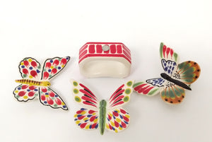 Set of 4 Rectangular Napking Ring + 4 Butterfly Figure (Just Pre orders)