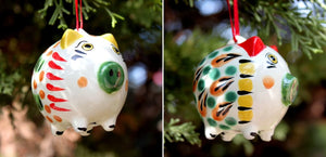 Ornament Pig Set of 2