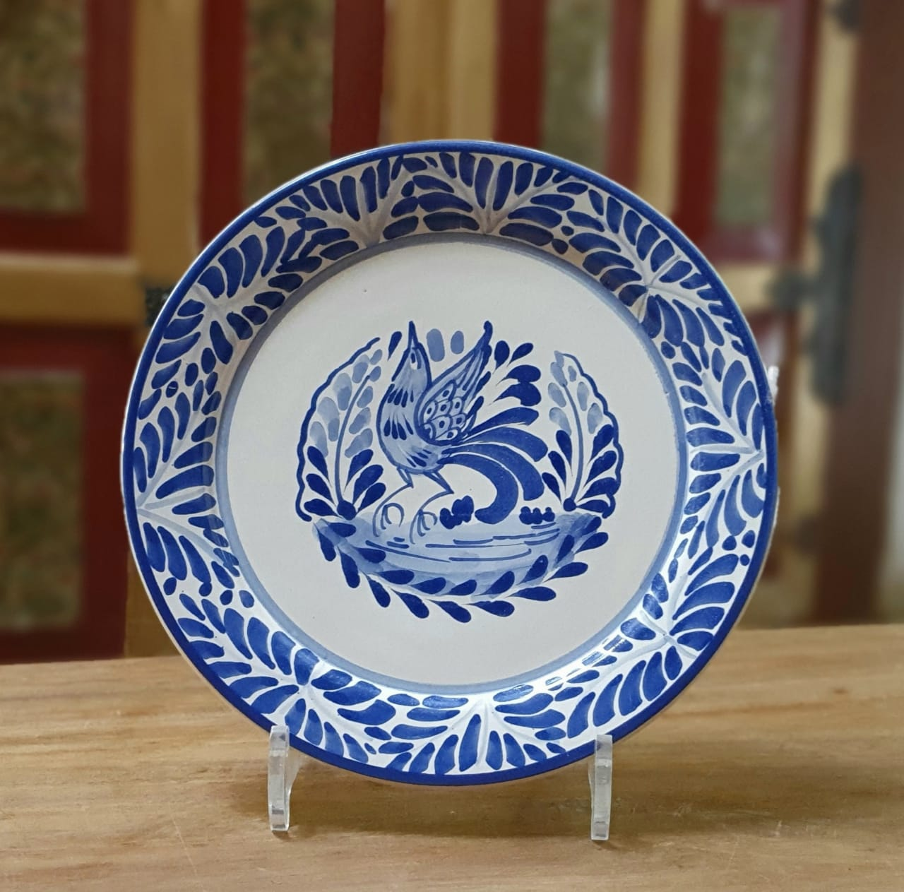 Bird Plate Blue and White