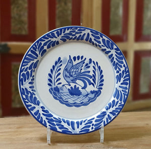 Bird Plates Blue and White
