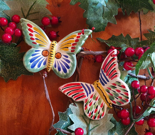 Ornament Butterfly Set of 2 Pieces Multi-colors