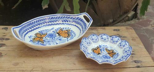 Butterfly Set of 2 Pieces Blue and White