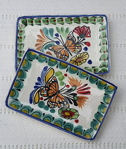 Butterfly Mini Rectangular Tray 3.9 X 5.5