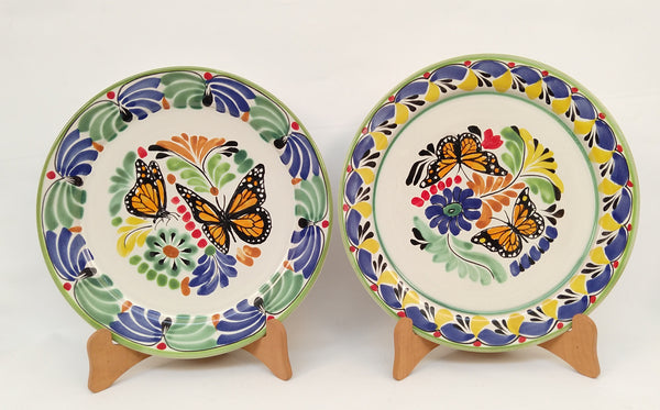 Butterfly Dinner Plate 10.2 in D Set of 2
