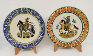 Cowboy and Cowgirl Plates Sets of 2 Pieces Multi-colors